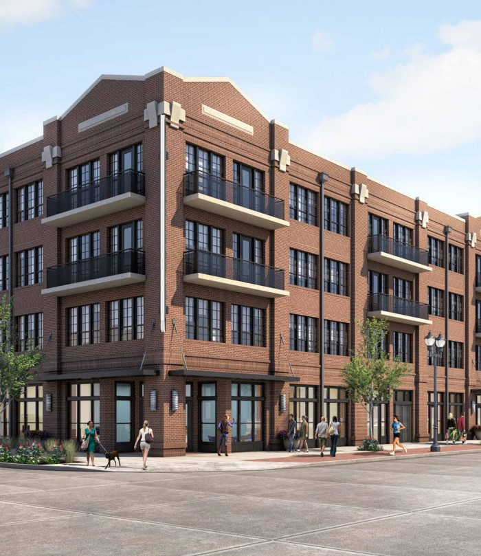 Rendering of exterior of Kilby apartment community in Frisco, TX