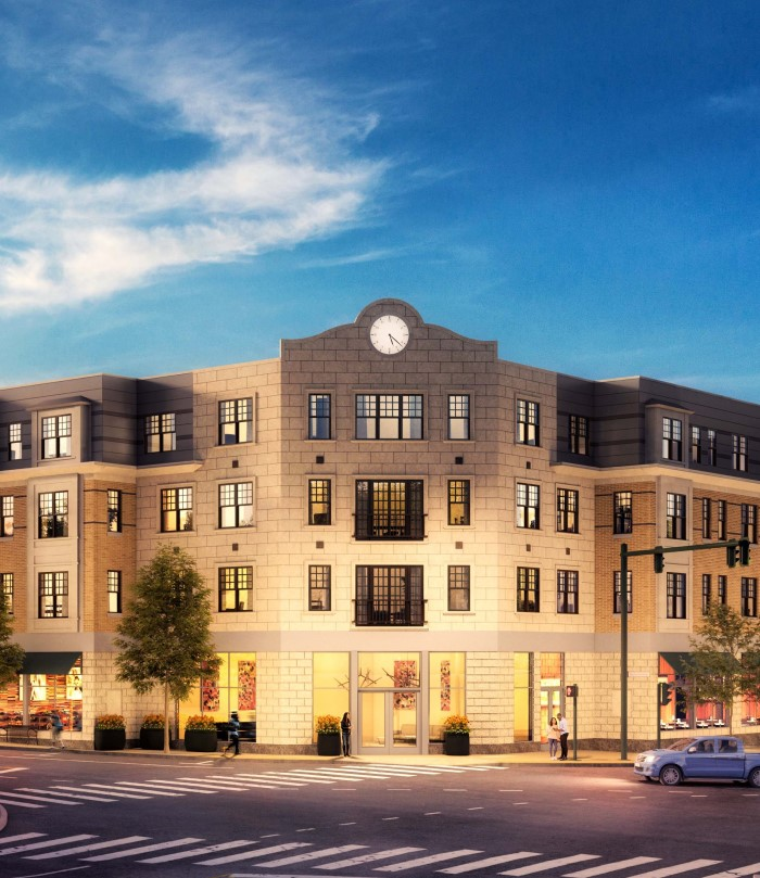 Exterior rendering of The Bradford apartment community in Belmont, MA