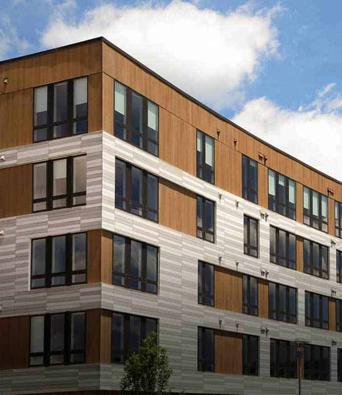 rendering of building exterior of The Kendrick apartments in Needham, MA
