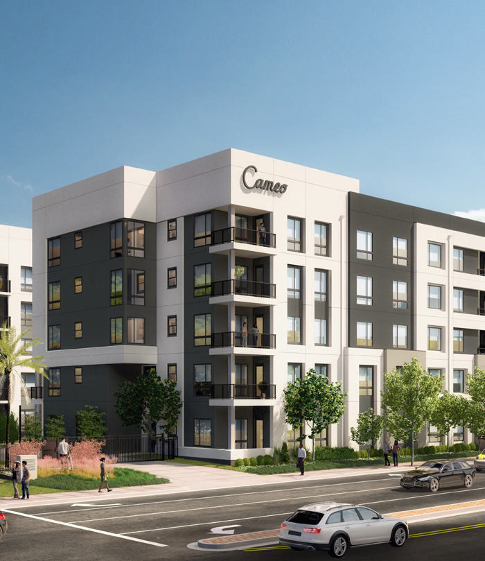 Exterior rendering of Cameo in daytime